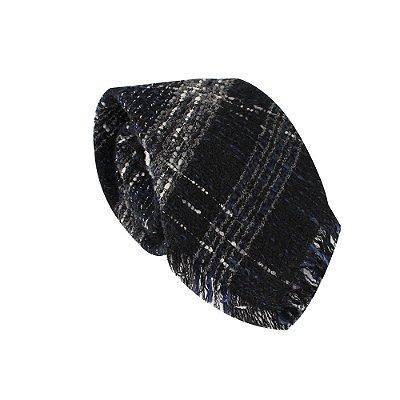 CHANEL | Gravata Chanel Xadres Lã Marinho