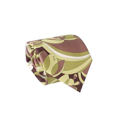 EMILIO PUCCI | Gravata Pucci Estampa Seda Estampado
