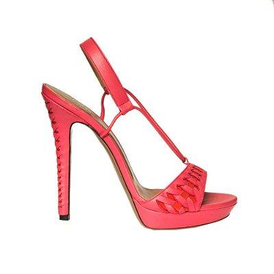 VERSACE | Sandália Versace Couro Vermelha