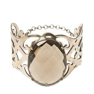 SM | Bracelete SM Metal e Cristal Chumbo