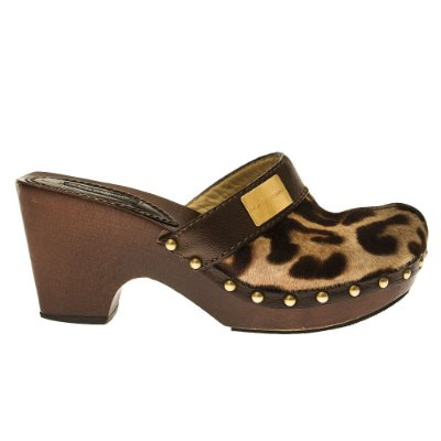 DOLCE & GABBANA | Clogs Dolce & Gabbana Poney Skin Animal Print Marrom