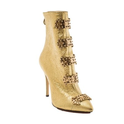 CHARLOTTE OLYMPIA | Ankle Boot Charlotte Olympia Couro Dourada