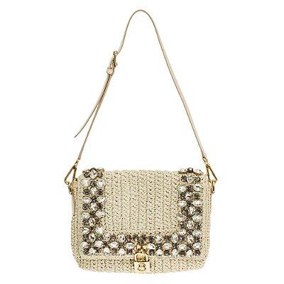 DOLCE & GABBANA | Bolsa Dolce & Gabbana Crochê Ráfia Off White