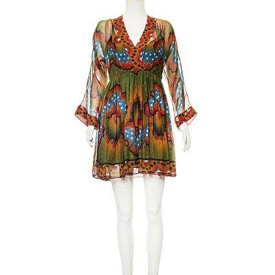 VALENTINO | Vestido Valentino Seda Estampado Floral Verde
