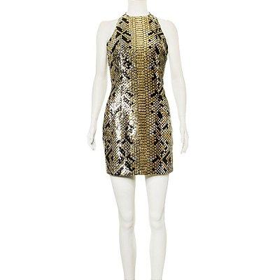 BALMAIN | Vestido Balmain Paetes Dourado