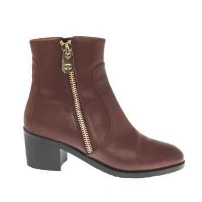 CHANEL | Ankle Boot Chanel Couro Vinho