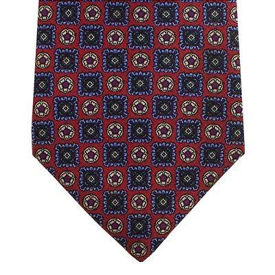 BALENCIAGA | Gravata Balenciaga Seda Vermelha e Azul