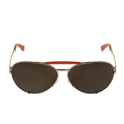VALENTINO   Óculos Valentino Metal Vermelho Prateado