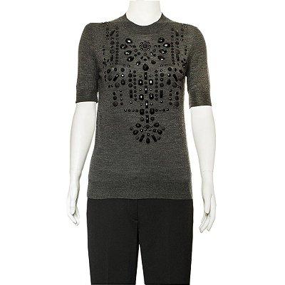 LANVIN | Camiseta Lanvin Lã Cinza