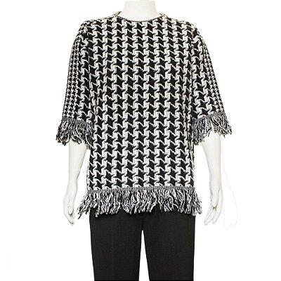 STELLA MCCARTNEY | Pullover Stella McCartney Pied de Coq Preto e Branco