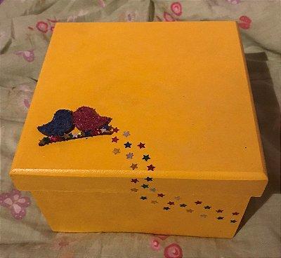 caixa de MDF pintada à mão - Pássaros
