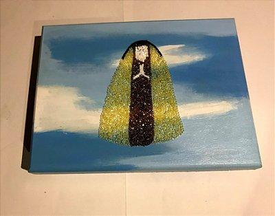 Caixa de MDF pintada a mão - Santa Teresinha