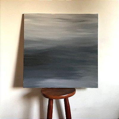 Quadro abstrato pintado à mão - Serenidade