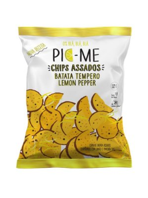 CHIPS ASSADO LEMON PEPPER 34 gr - PIC-ME