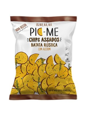 Chips Assado Batata Rustica com Alecrim 34g - Pic-Me