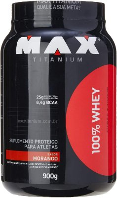 100% Whey 900g Pote - Max Titanium