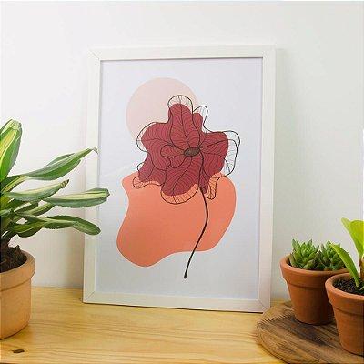 Quadro Decorativo Pintura Orgânica Flor