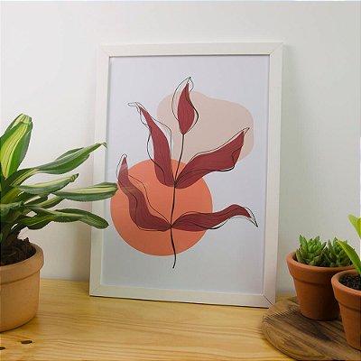 Quadro Decorativo Pintura Orgânica Folhagem