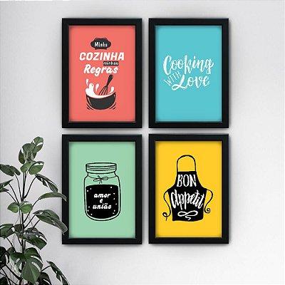 Conjunto de 4 Quadrinhos Cozinha