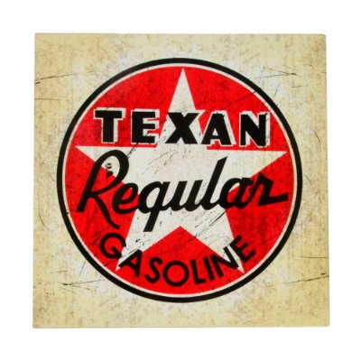 Placa de Metal Decorativa Texan