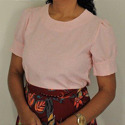 Blusa de linho cor rosa