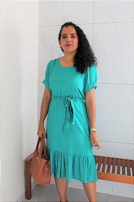 Vestido de viscose verde