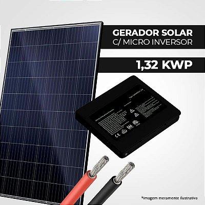 Kit Solar 1,32 kWp 4 Placas + Micro Inversor + Estrutura p/ Cerâmica, Metálica ou Fibrocimento