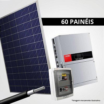 Kit Solar Gerador 19,80 kWp 60 Placas + Inversor + Estrutura p/ Cerâmica, Metálica ou Fibrocimento