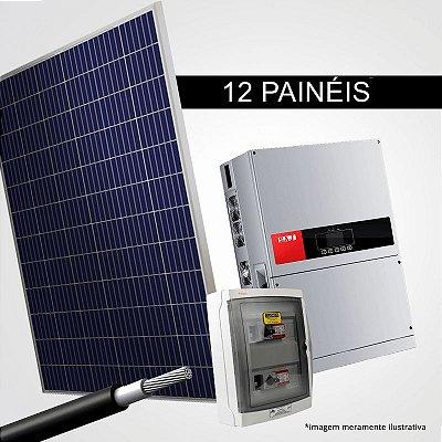 Kit Solar Gerador 5,28 kWp 16 Placas + Inversor + Estrutura p/ Cerâmica, Metálica ou Fibrocimento