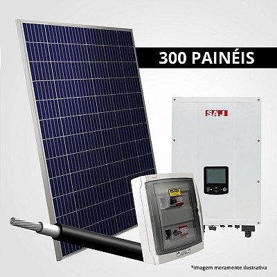 Kit Solar Gerador 99,00 kWp 300 Placas + Inversor + Estrutura p/ Cerâmica, Metálica ou Fibrocimento