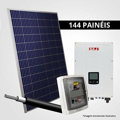 Kit Solar Gerador 47,52 kWp 144 Placas + Inversores + Estrutura p/ Cerâmica, Metálica ou Fibrocimento