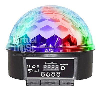 Bola Maluca Led 6 Cores 18w Rgb Dmx Ritmico Cristal