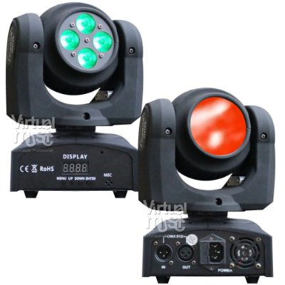 Kit 2 Moving Head Led Double Face 12w Rgbw Dmx