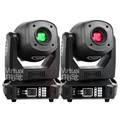 Kit 2 Moving Head Led Spot 100w Dmx Disco De Cores Gobos e Prisma