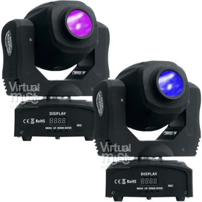 Kit 2 Moving Head Led Spot 60w Dmx Disco de Cores e Gobos