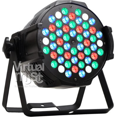 Kit 6 Canhao De Led Parled 54 Leds 3w Rgbw Optipar Dmx