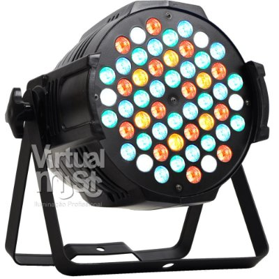 Kit 6 Canhao De Led Parled 54 Leds 3w Rgbwa Optipar Dmx