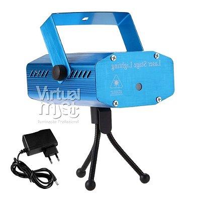 Mini Laser Festa 150mw Sensor Som Verde Vermelho