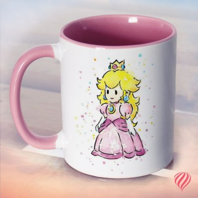 Caneca Peach & Super Star