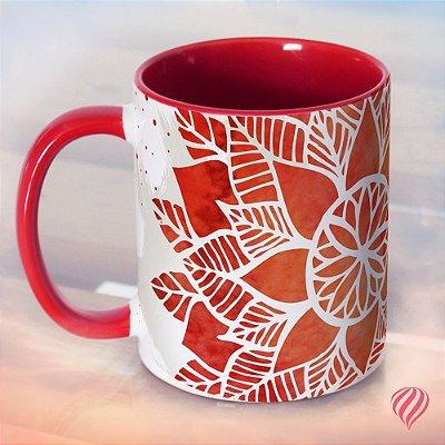 Caneca Decor - Mandala Vermelha