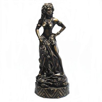 Pomba Gira médio metalizado (bronze)