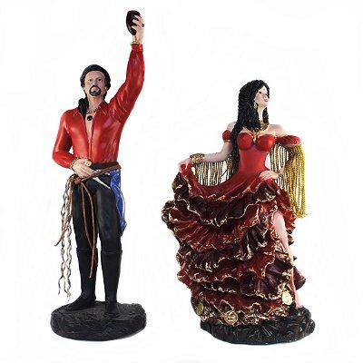 Casal de Ciganos Vermelho (Médio)