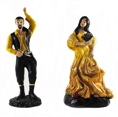 Casal de Ciganos Amarelo (Pequeno)