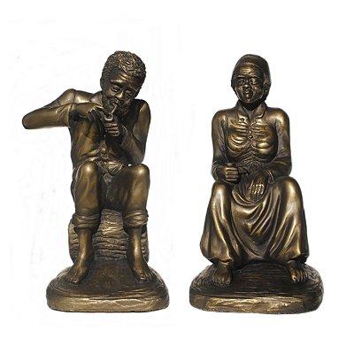 Casal de Pretos Velhos (Médio bronze)