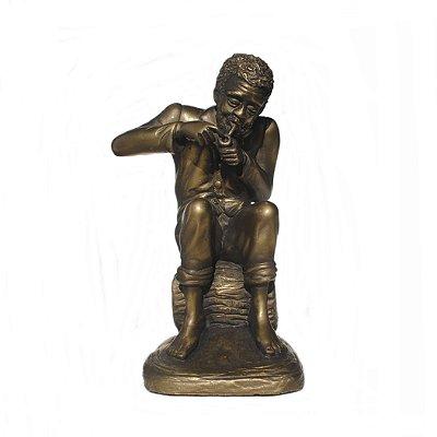 Preto Velho médio metalizado (bronze)
