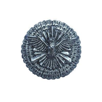 Escudo de Oxaguiã Grande Pintura em Prata