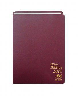 Diário Bíblico 2021 - Simples - Vinho - 420122