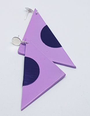 Brinco Triangular Lilac