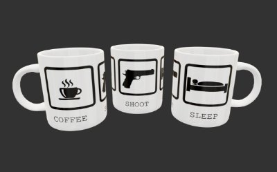 Caneca - Coffee-Shoot-Sleep