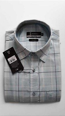 Camisa xadrez tradicional, fio 60